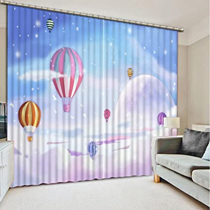 Good Sproud Baby Room Curtains Fantasy Balloon 3D Curtain For Kids Blackout  Luxury Curtain Living Room Bedroom