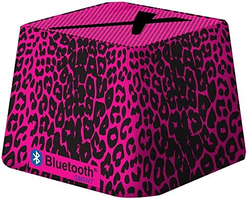 Xit Audio Bluetooth Wireless Mini Portable Speaker System for iPods, iPhones, iPads, Androids, and MP3 Players Pink Leopard