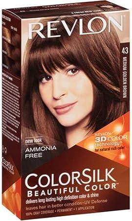 Colorsilk tinte #43-castaño medio dorado: Amazon.es: Salud y ...