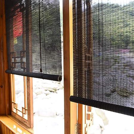 FF Estores enrollables Persianas enrollables para Exteriores para garajes de pérgola de Patio, sombrilla Exterior de Madera con Gancho, Negro, 70/90/110/130/140 cm de Ancho (Size : 110×150cm): Amazon.es: Hogar