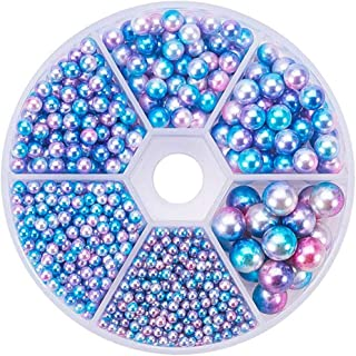 Nbeads 100pcs argilla polimerica Pave Crystal disco Ball Beads Spacers Fit Shamballa Jewelry 10/ mm foro: 1.5/ mm Topaz