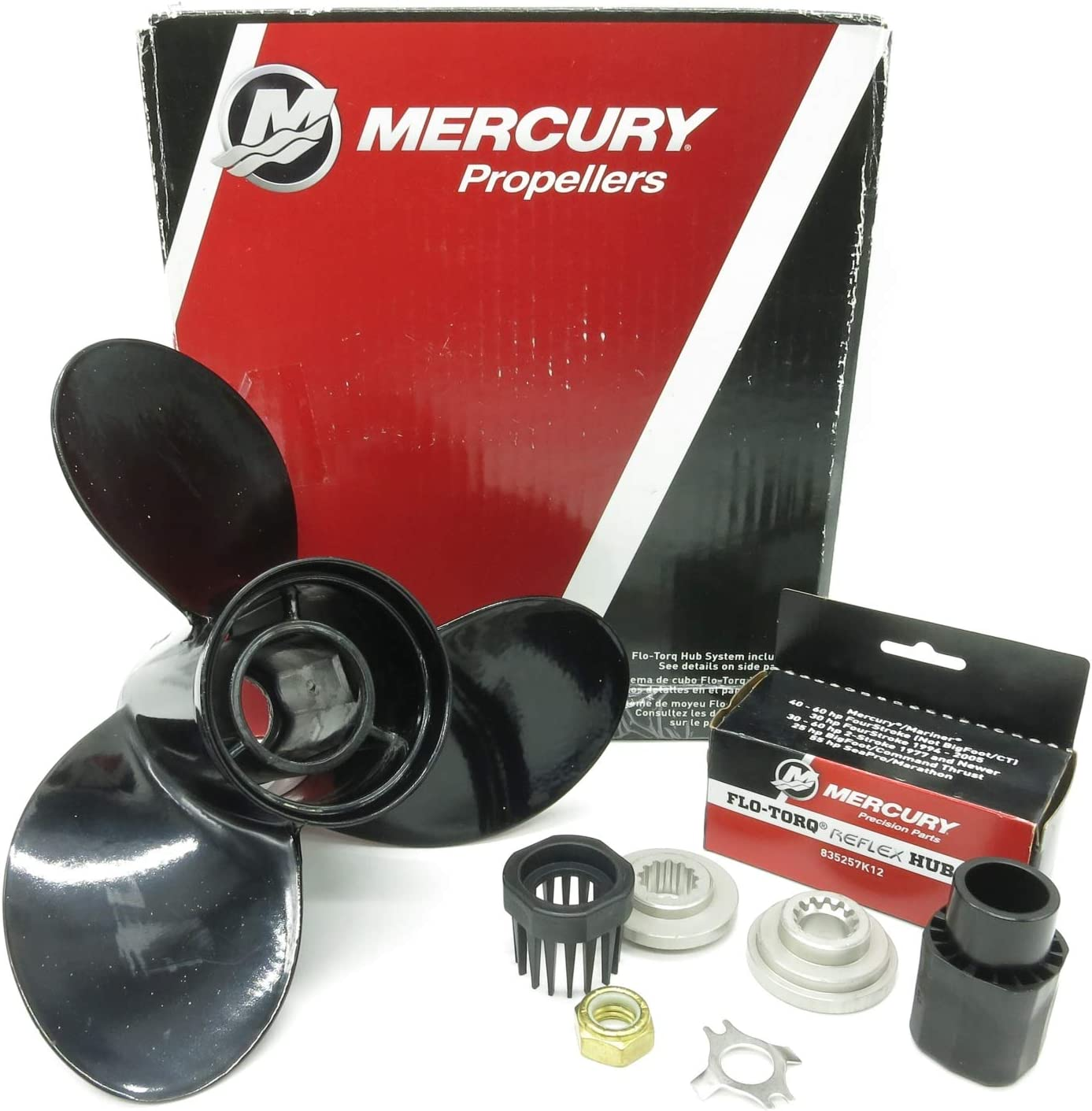Aluminum Outboard Propeller 10 5//8x12 Pitch for Mercury 25-70HP 48-73134A45