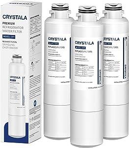 Samsung DA29-00020B Refrigerator Water Filter Replacement by Crystala Filter, Compatible with Samsung DA29-00020B, DA29-00020B-1, HAF-CIN/EXP, 3 Pack