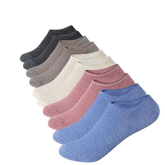 Anliceform Calcetines de mujer, de corte bajo, antideslizantes, 5 pares de calcetines de