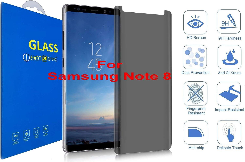 Samsung Galaxy Note 8 - Curvo 3D Cristal Templado Protector de Pantalla Privacy, Anti Spy 3D Completo Borde Curvado [ Borde a Borde ] para Samsung Galaxy Note 8: Amazon.es: Electrónica