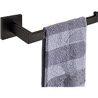 Nolimas Matte Black Bath Towel Bar Single Bars Towel Ring Classic Wall Mounted SUS304 Stainless Steel Bathroom Towel…