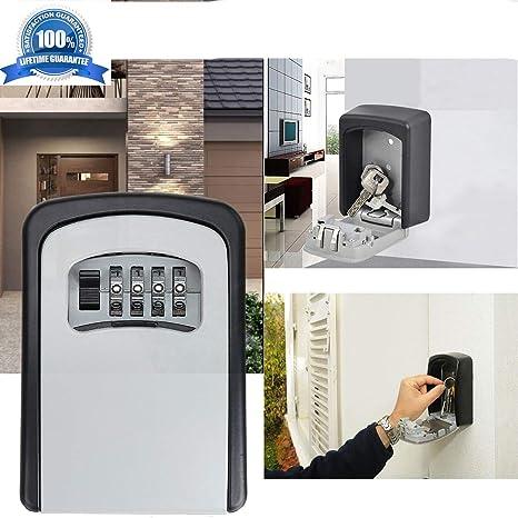 Amazon.com: BOMPOW Caja de cerradura para llaves segura ...