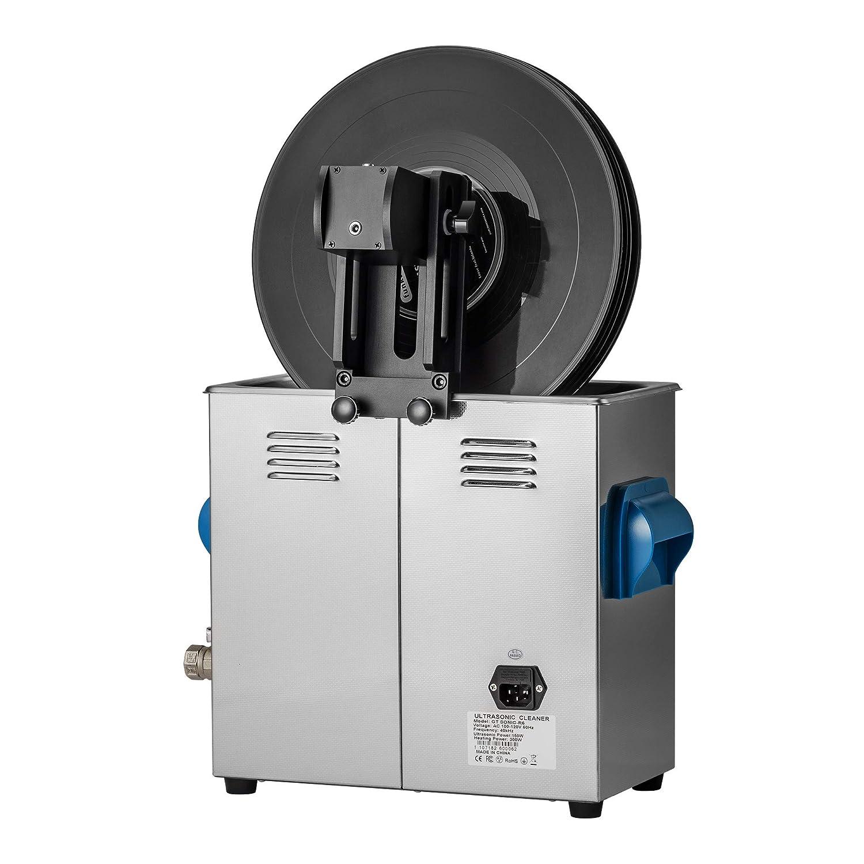 WEWU 超音波洗浄機 レコード クリーナー セット レコード 洗浄 デジタル 超音波洗浄器 6L 12インチ レコード洗浄機   B07NTSM389