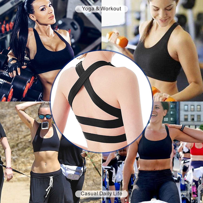 DeepTwist Donne Reggiseno Sportivo Imbottito Supporto Yoga Sport Bra