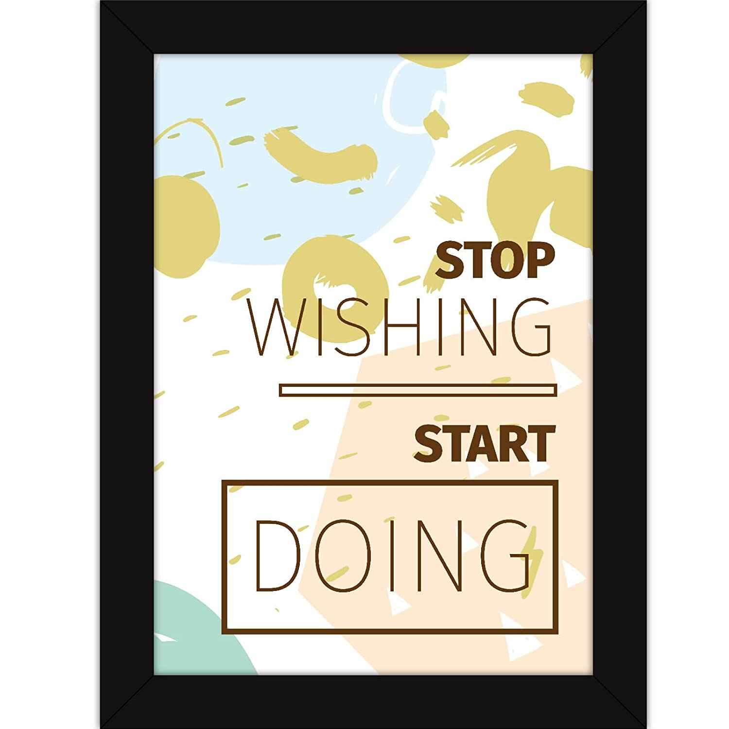 Motivational Quotes For Office And Study Room - Inspirational Posters With Frames - Start Doing