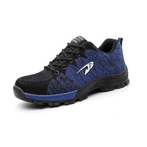 H-Mastery Zapatillas de Seguridad para Hombre Mujer Zapatos Trabajo con Punta de Acero: Amazon.es: Zapatos y complementos