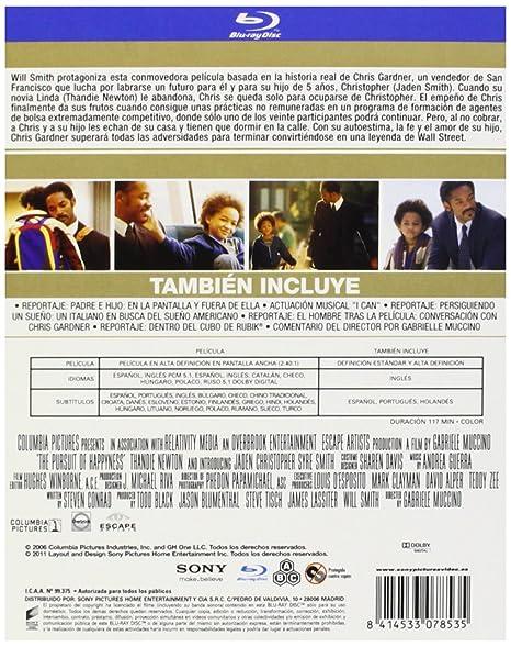 En Busca De La Felicidad Bd Blu Ray Amazon Es Will Smith Jaden Smith Gabriele Muccino Will Smith Jaden Smith Todd Black Jason Blumenthal Cine Y Series Tv