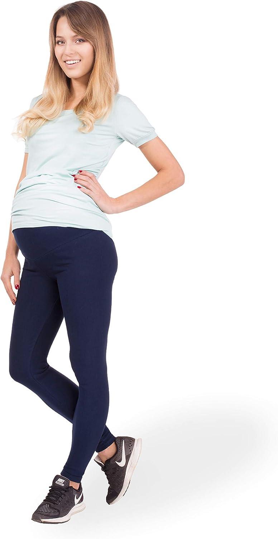 BeLady Legging de Maternit/é Femme en Coton Longs Jambi/ères Pantalon Opaque Noir Marron Bleu marine Graphite Blanc