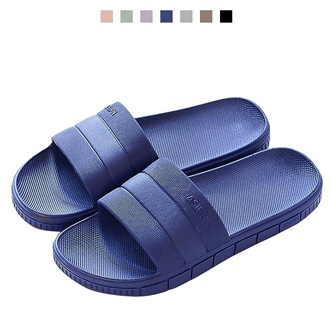 hot sale online 58ac1 7766a ... Bathroom Women Sandals Shower Slides Indoor Slip on Slides Navy Blue  Sandals Slippers best quality c6eca NEW - Adidas Adilette ...
