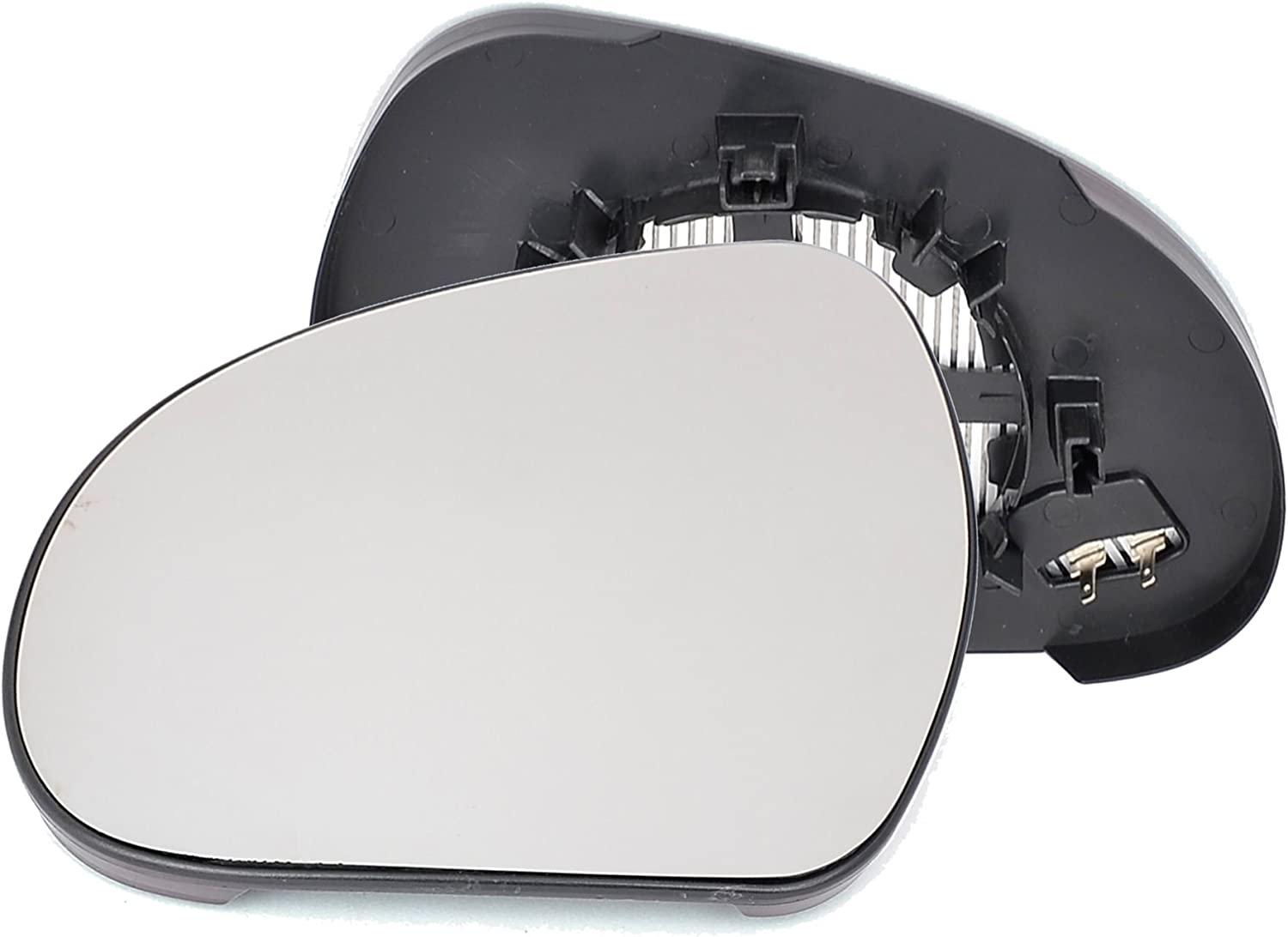 Passenger left hand side Heated wing door Silver mirror glass with backing plate #C-SHY//L-PT80702 Clip On