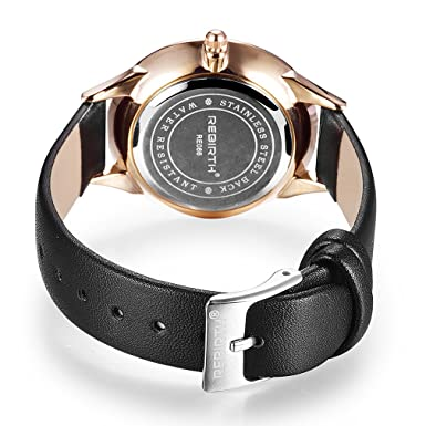 Amazon.com: Rebirth Quartz Women Dress Watch Leather Band Luxury Fashion Ladies Watches.: Watches