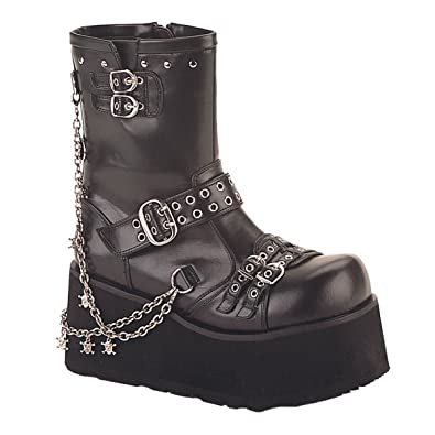 3 1/2 Inch Hot Gothic Ankle Boot With Detachable Chains Punk Boot