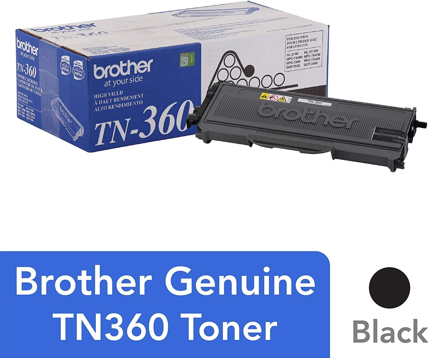 2x TN360 TN330 High Ink Toner Cartridge For Brother HL-2140 2150N 2170W DCP-7040