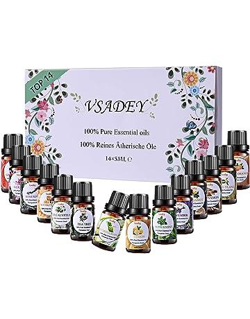 VSADEY Aceites Esenciales Aromaterapia Top 14 Aceites Set de Regalo Perfecto Aceites Esenciales para Humidificador y