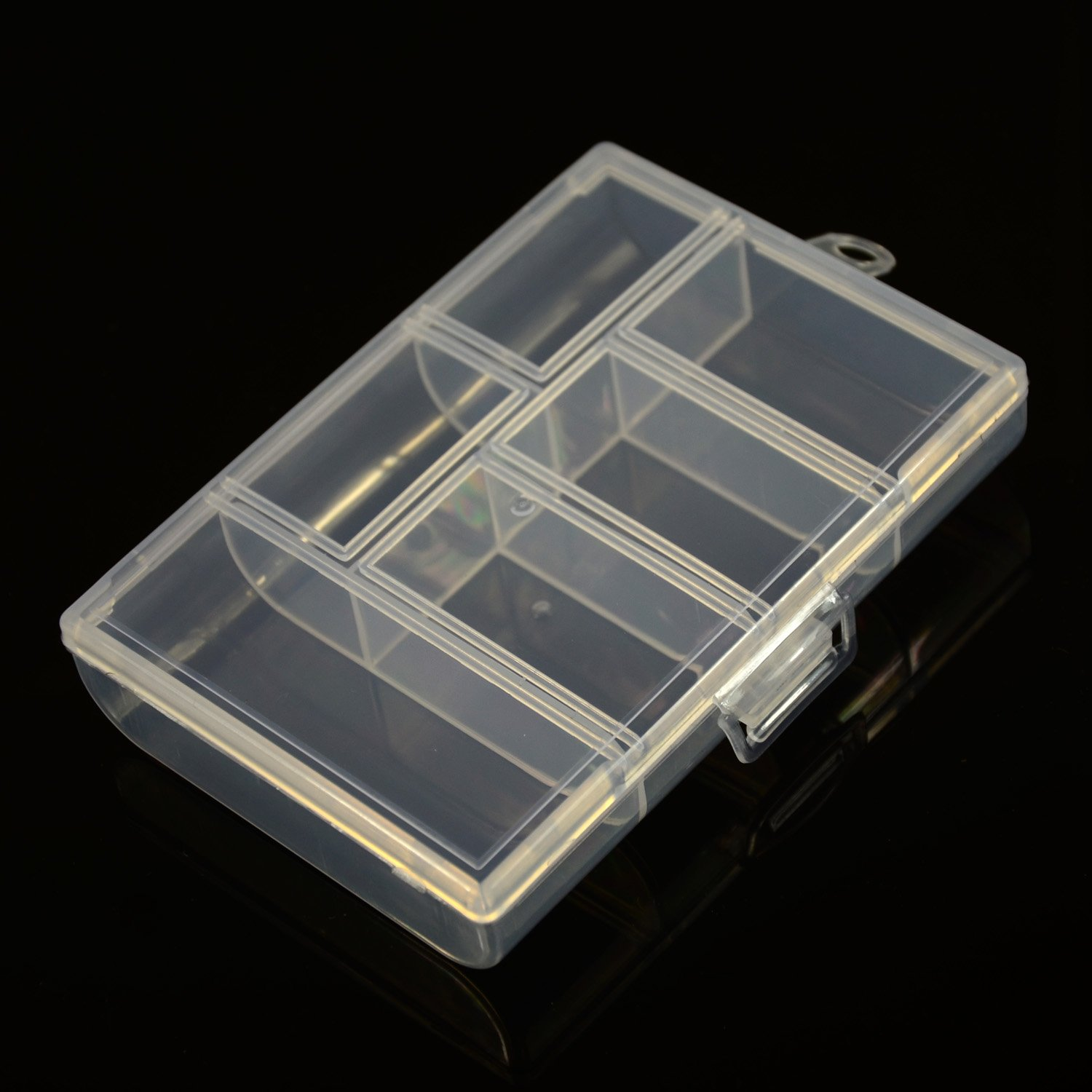 6 Grid Plastic Box Beads Organizer 3 1/4-Inch by 4 3/4-Inch JAYP HT30084CL01