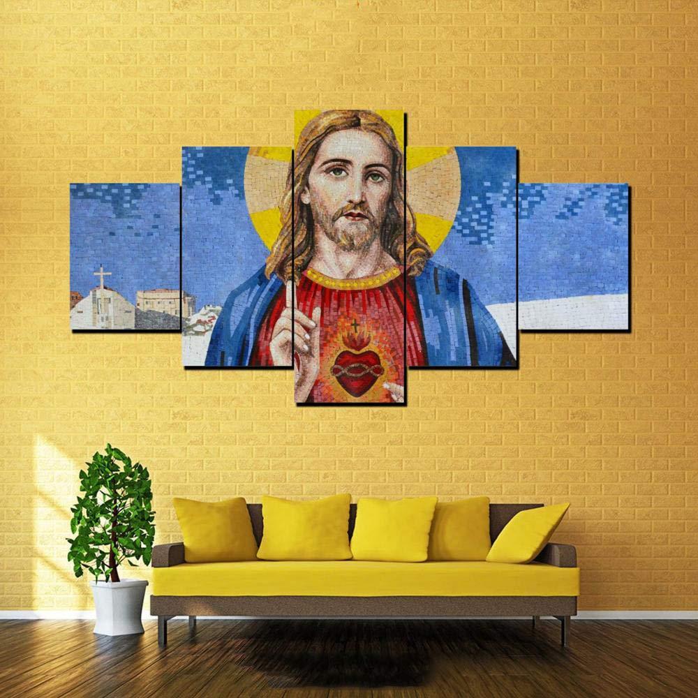 Decoración del hogar impresión HD Lienzo Moderno 5 Paneles Arte ...