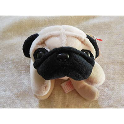 "TY Pugsly the Pug Dog Beanie Buddy 12"" [Toy]: Toys & Games"