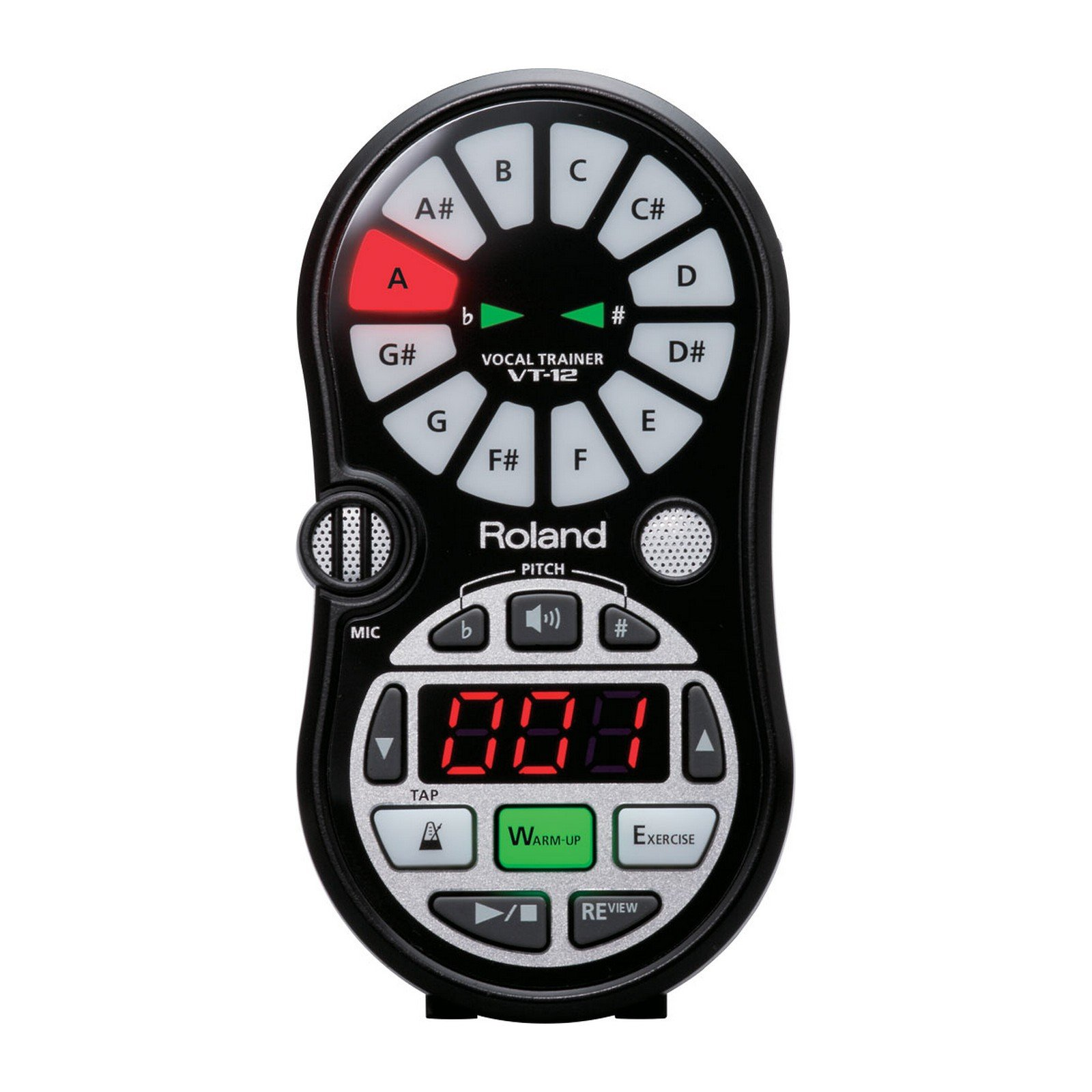 Roland VT-12-BK | Metronome Tuner Compact Vocal Trainer Black