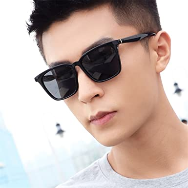 b77d93711a7 HCIUUI Polarized Sunglasses Men s Tide Square Sunglasses Men s Eyes Female  Personality Driving Driving Driver 2018 New