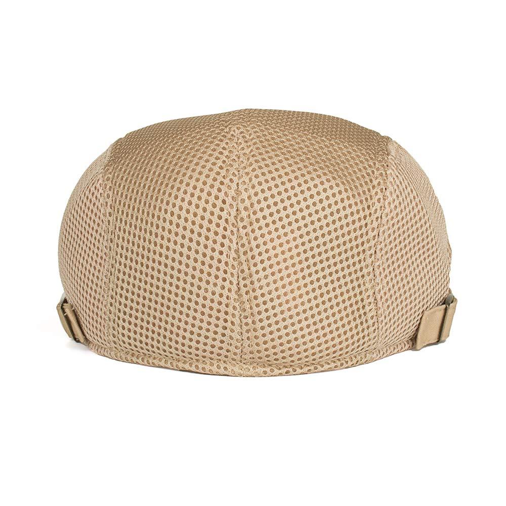 Juleya Sommer Herren Schirmm/ütze Einstellbar Sommer Kappe Hut Schieberm/ütze Flatcap Mesh Atmungsaktiv Freizeit und Komfort 5 Farben zur Auswahl