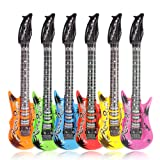 "CCINEE 6pc 35.4"" Inflatable Guitar Party Supplies"