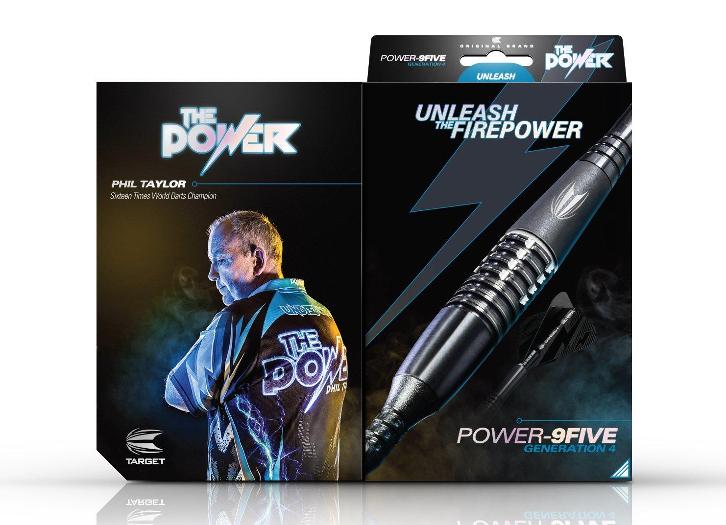 Generation 4 18 g Target Darts Phil Taylor Power 9-Five Gen 4 18G 95/% Tungsten Soft Tip Darts Set Dardos