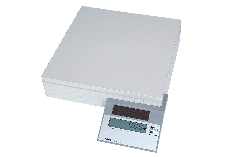 Maul 17450 - Balanza solar para paquetes, hasta 50 kg, color gris: Amazon.es: Oficina y papelería