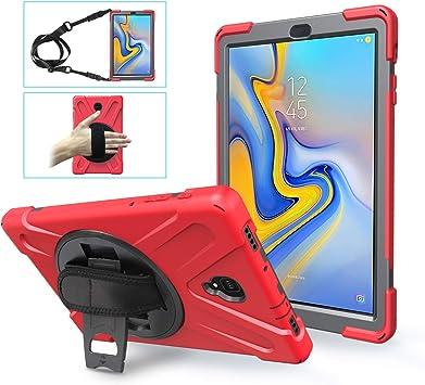 TSQ Étui pour Samsung Galaxy Tab A 10.5 Coque pour enfant   Résistant aux chocs et aux chutes pour Galaxy Tab A 10.5 T590/T595/T597 - Rouge