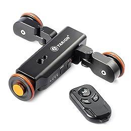 TARION Y5D スライダー 電動式 ワイヤレスリモート 電動ドリー 往復運動でき 充電式 一眼レフ ミラーレス スマートホンに適用