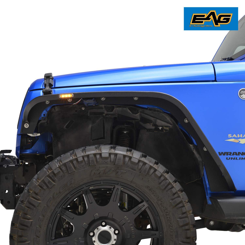 EAG Front Fender Flare LED Ultra Regular Width Fit for 07-18 Jeep Wrangler JK
