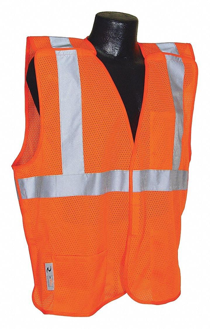 Radians SV4OMM Economy Class 2 Breakaway Mesh Safety Vests Medium Orange