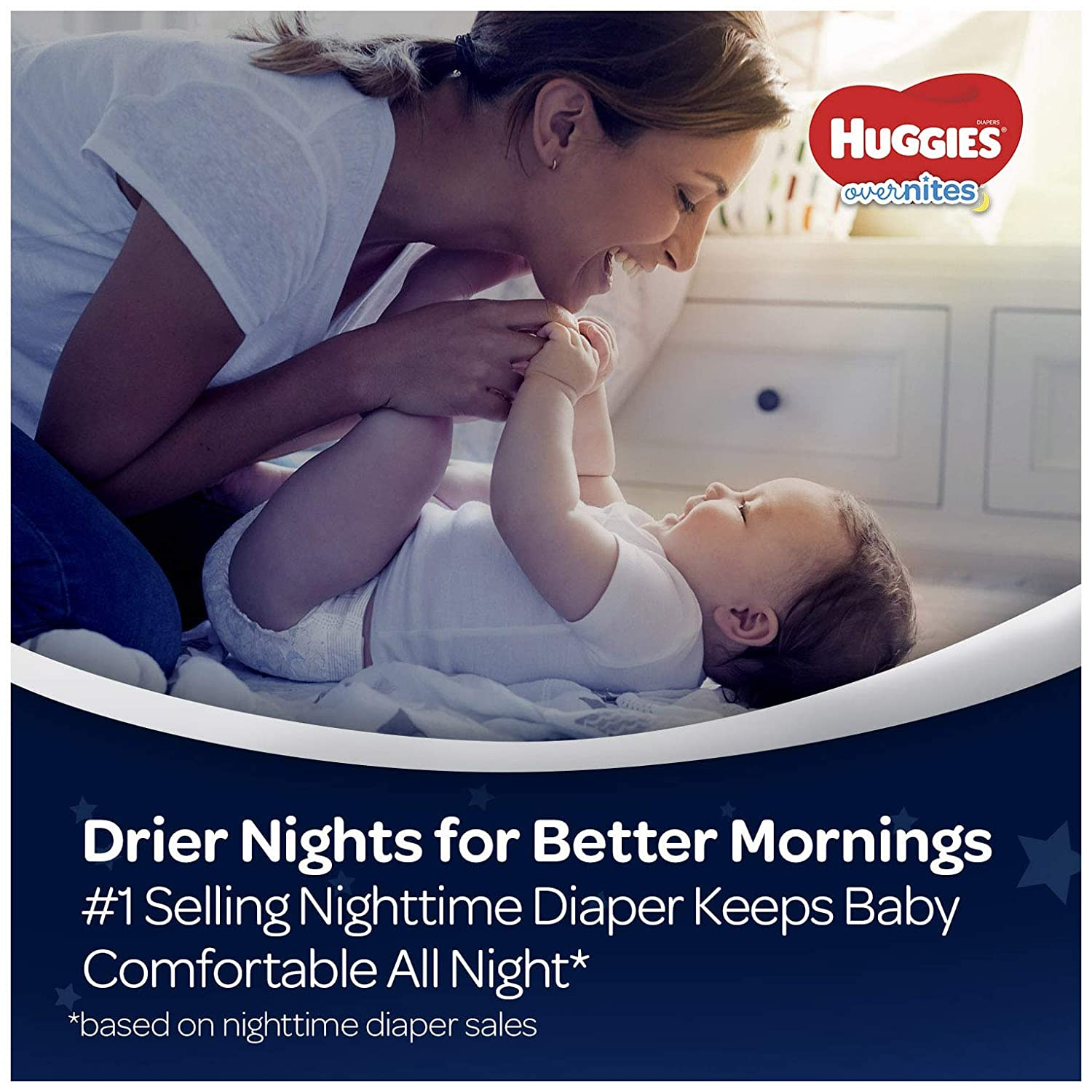 HUGGIES OverNites Night Time Baby Diapers Size 6 15 count