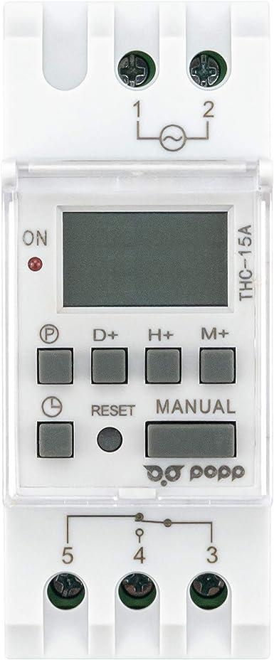 Temporizzatore digitale programmabile THC 30A Interruttore di controllo orario programmabile Rel/è a tempo LCD digitale 12V