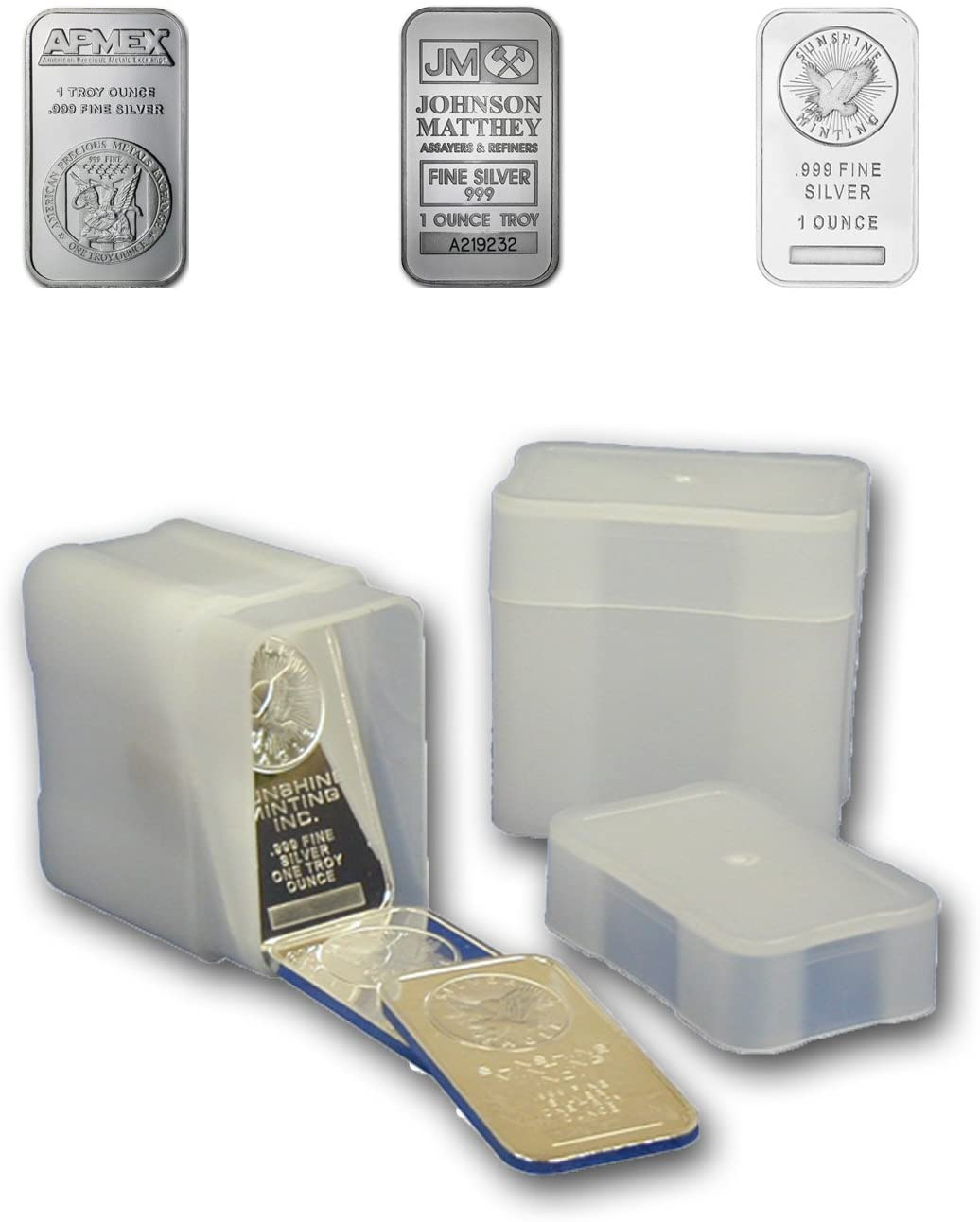 Coin Safe Square Archival Plastic Coin Tubes Lot Of 5 Silver Eagle Size Storage