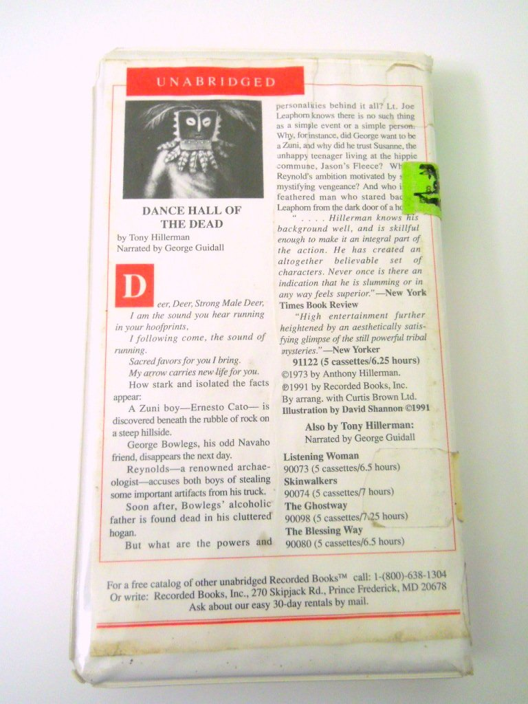 Dance Hall of the Dead Audio Cassette Book By Tony Hillerman