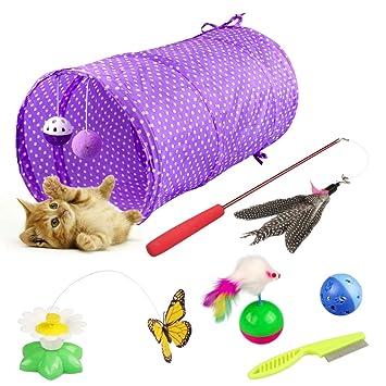 Yokunat Kitten Toys Variety Pack - Set de Juguetes para Gatos, Incluyendo Cat Tunnel,