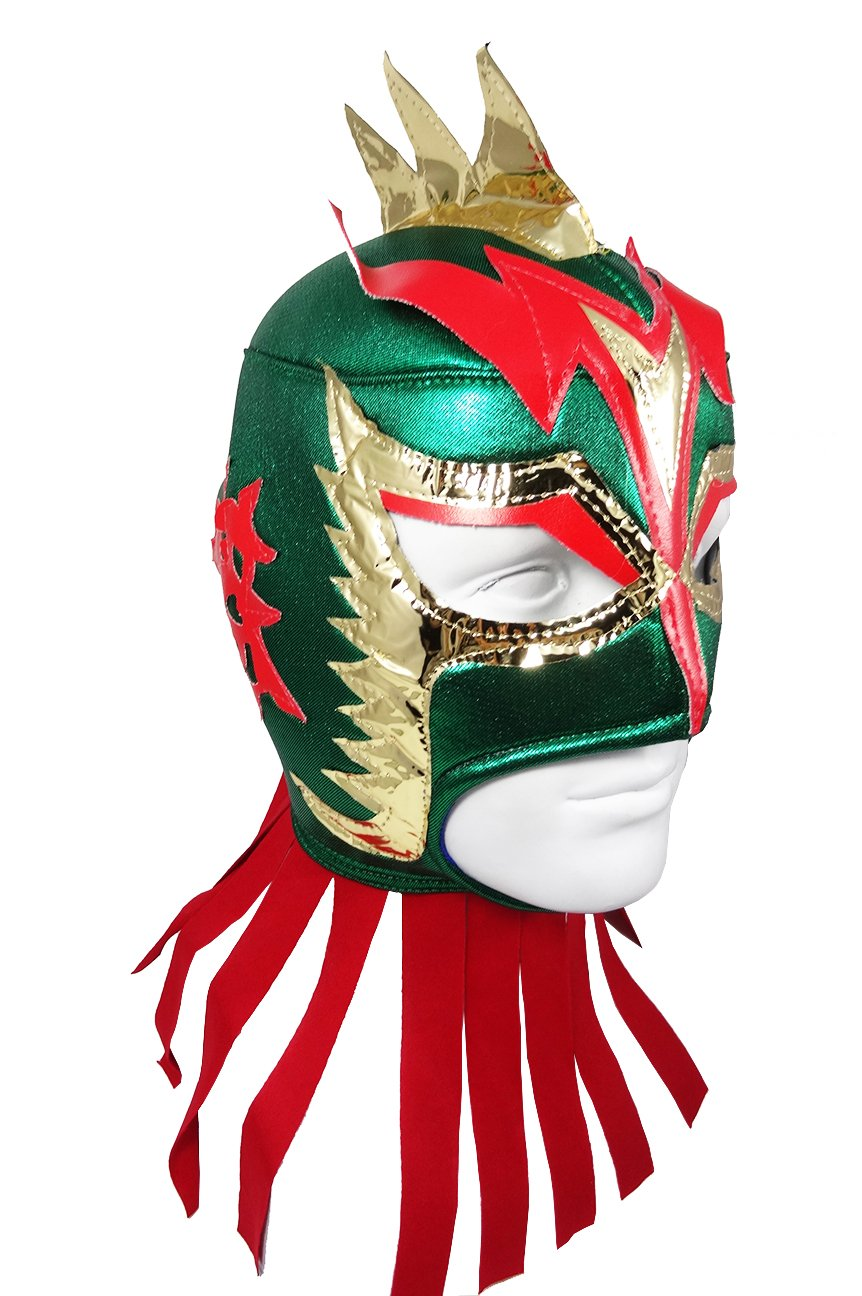 ULTIMO DRAGON Adult Lucha Libre Wrestling Mask (pro-fit) Costume Wear - Green