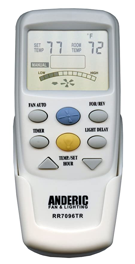 Anderic Replacement For Hampton Bay Chq7096t Withreverse Key Thermostatic Remote Control