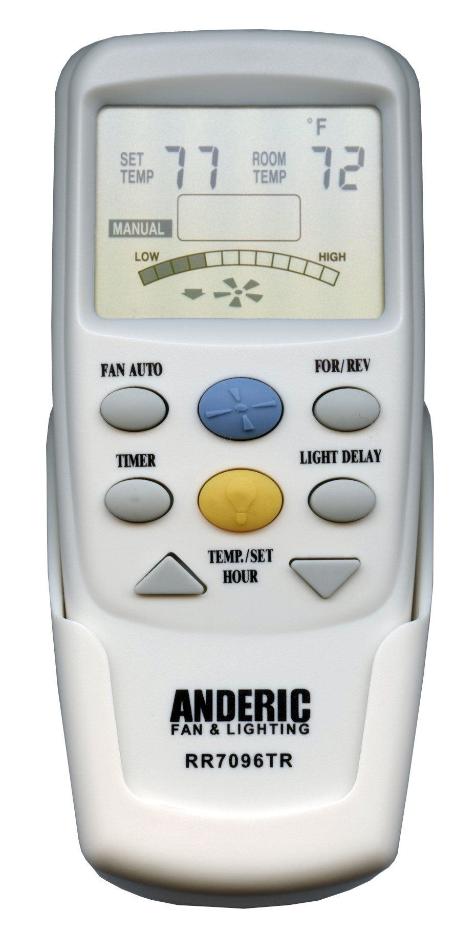 Anderic Replacement for Hampton Bay CHQ7096T with''Reverse'' key Thermostatic Remote Control for Hampton Bay Ceiling Fans (FCC ID: CHQ7096T, UC7096T, CHQ8BF7096T, CHQ8BT7096T) - RR7096TR