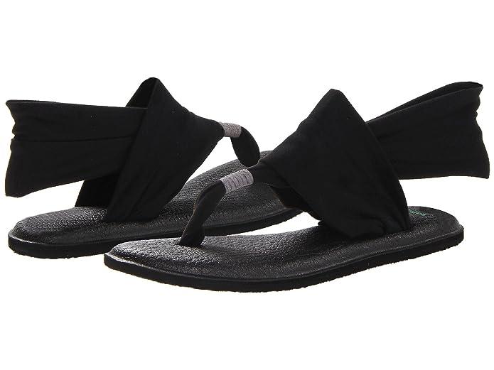 Sanuk Womens Yoga Sling 2 Flip Flop,Black,8 M US: Amazon.es ...