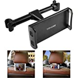 """Tryone Car Headrest Mount, Car Seat Tablet Holder for iPad/Samsung Galaxy Tabs/Amazon Kindle Fire HD/Nintendo Switch/Other Devices 4""""-10.1"""" (Black)"""