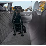Plush Paws Pet Seat Cover Waterproof SUV back Seat Cover for Dogs Pet Seat Covers for Trucks Pet Hammock 2 Seatbelts 2 Harness Side Flaps Pet Car Seat Cover NonSlip Silicon Back Machine Washable