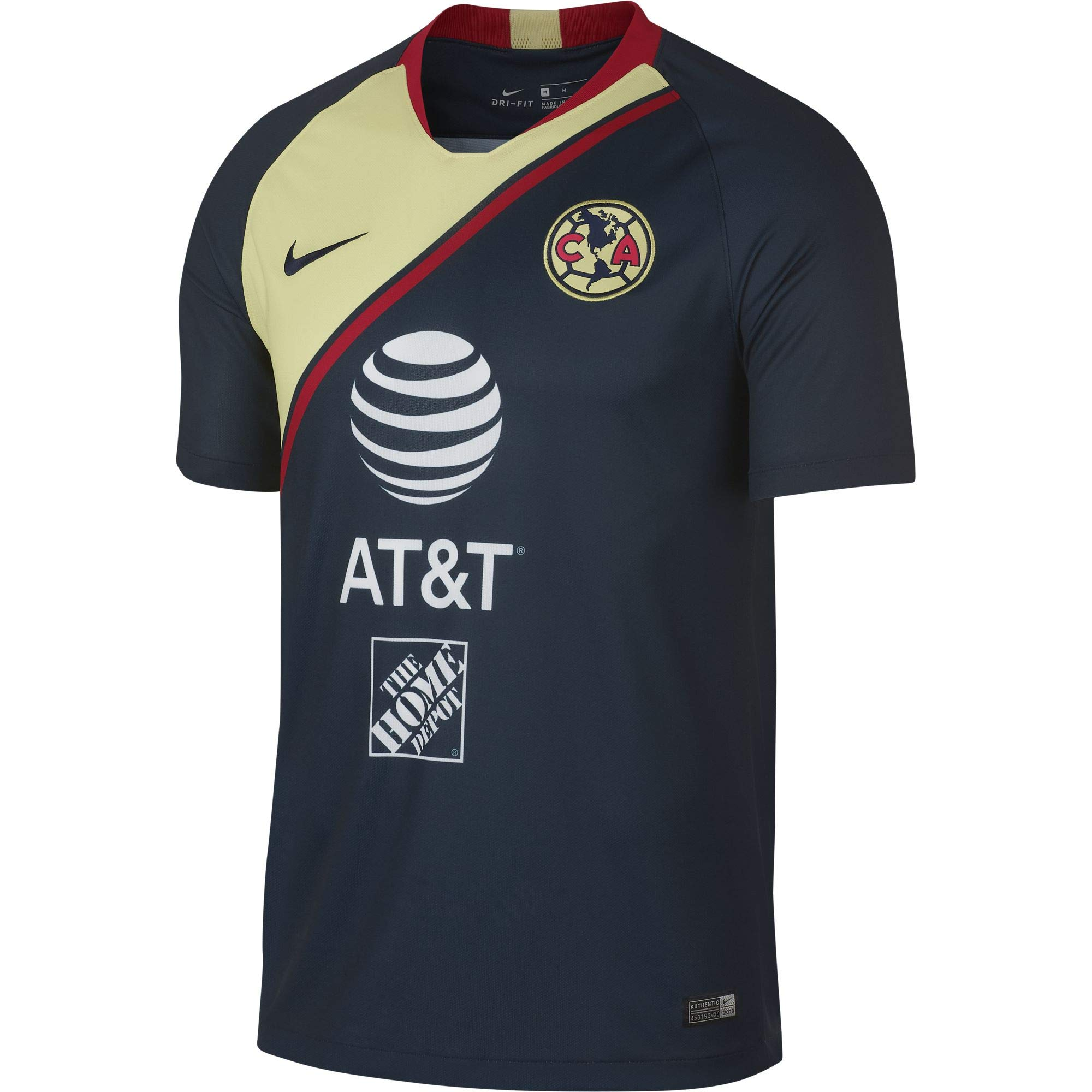 8fa24c89753 NIKE Club America Away Stadium Soccer Jersey 2018 19 product image