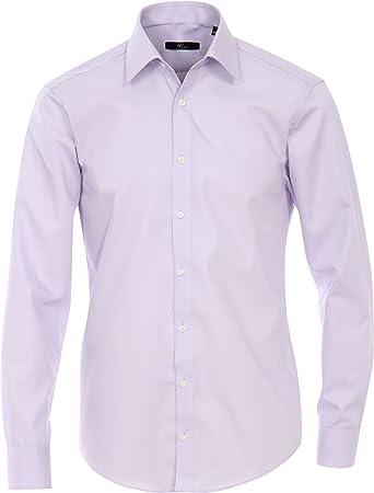 MichaelaX-Fashion-Trade - Camisa Casual - Básico - Clásico - Manga Larga - para Hombre Lila (901) 48: Amazon.es: Ropa y accesorios