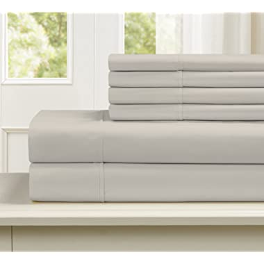 Blissful Living 800 Thread Count Cotton Rich 4-6 Piece Sheet Set - Includes Extra Pillowcase(S)! Super Soft, Hotel Quality Luxury (King, Tan)